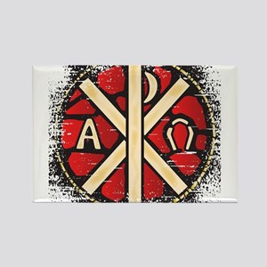 Alpha Omega Stained Glass Magnets