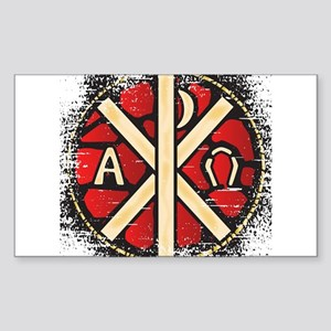 Alpha Omega Stained Glass Sticker