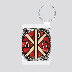 Alpha Omega Stained Glass Keychains