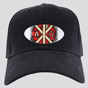 Alpha Omega Stained Glass Black Cap