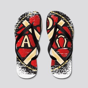 Alpha Omega Stained Glass Flip Flops