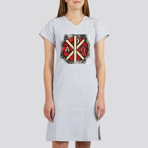 Alpha Omega Stained Glass Women's Nightshirt