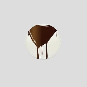Melting Chocolate Heart Mini Button
