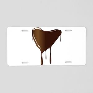 Melting Chocolate Heart Aluminum License Plate