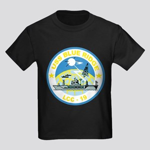 USS Blue Ridge LCC 19 Kids Dark T-Shirt