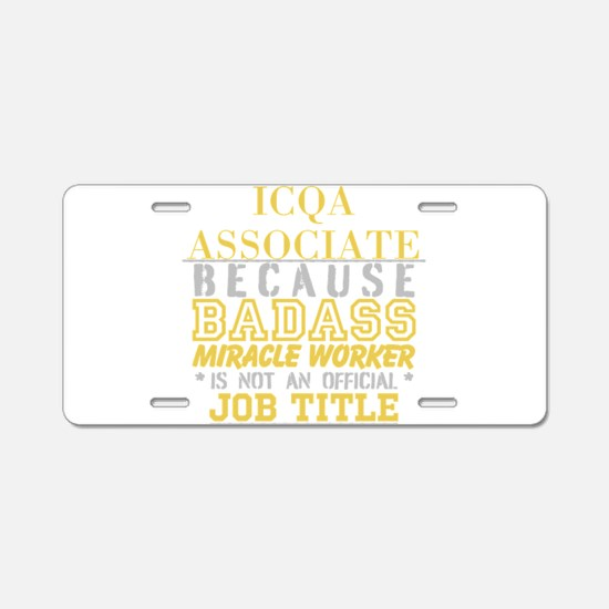 Personalize Work Aluminum License Plate