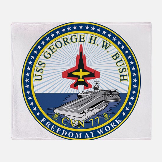 USS George H.W. Bush (CVN-77) Throw Blanket