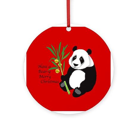 Bear-y Merry Christmas Ornament (Round)