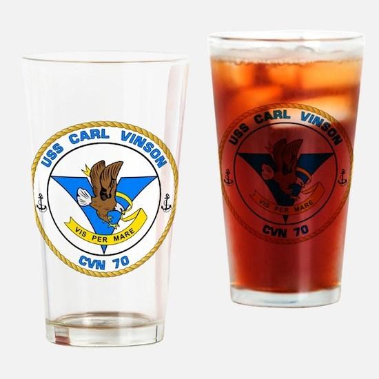 Cool Uss carl vinson Drinking Glass