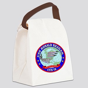 USS Ronald Reagan (CVN-76) Canvas Lunch Bag