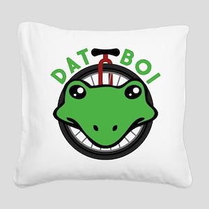 Dat Boi Frog Retro Square Canvas Pillow