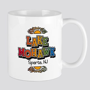 Lake Mohawk Retro Rainbow Standard Coffee Mugs