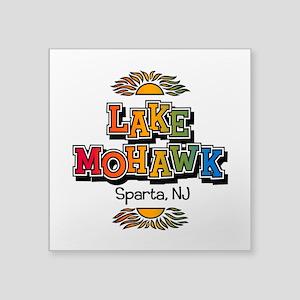 Lake Mohawk Retro Rainbow Sticker