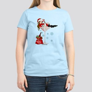 Santa Girl Martini T-Shirt