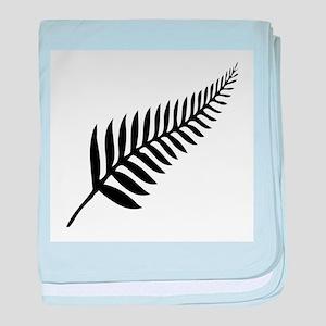 Silver Fern of New Zealand baby blanket