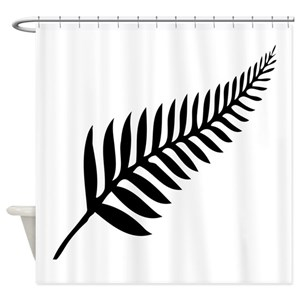 New Zealand Silver Fern Shower Curtains