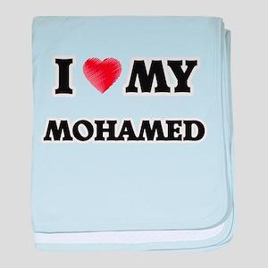 I love my Mohamed baby blanket