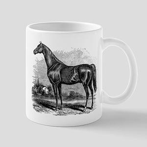 Vintage Race Horse American Black White Mugs