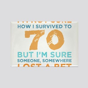 70th Birthday Survival Magnets