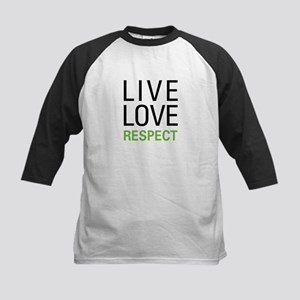Live Love Respect Kids Baseball Jersey