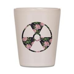 Floral Radioactive Symbol Shot Glass