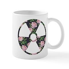 Floral Radioactive Symbol Mugs