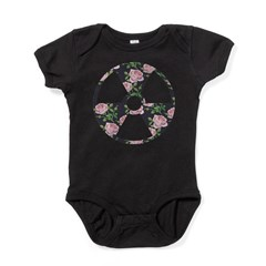 Floral Radioactive Symbol Baby Bodysuit