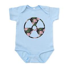 Floral Radioactive Symbol Body Suit