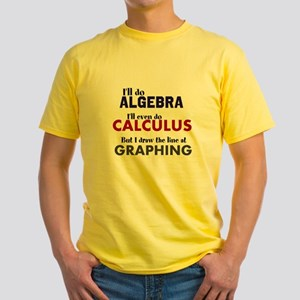 Draw The Line At Graphing - T-Shirt