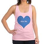 Kiss Me Blue Heart Racerback Tank Top