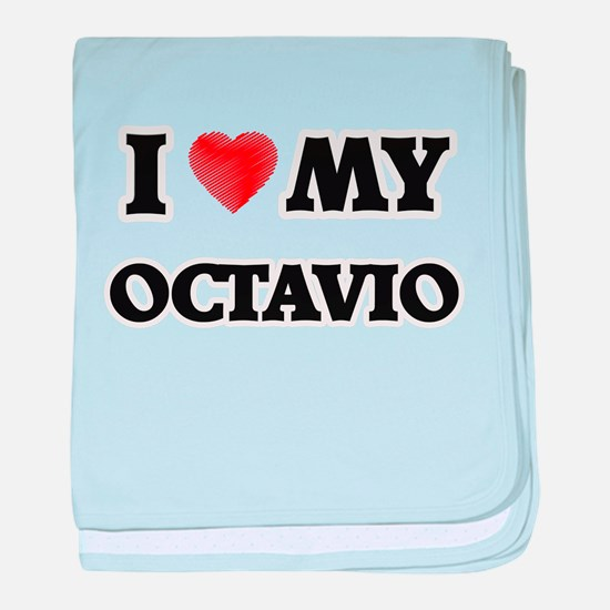 I love my Octavio baby blanket