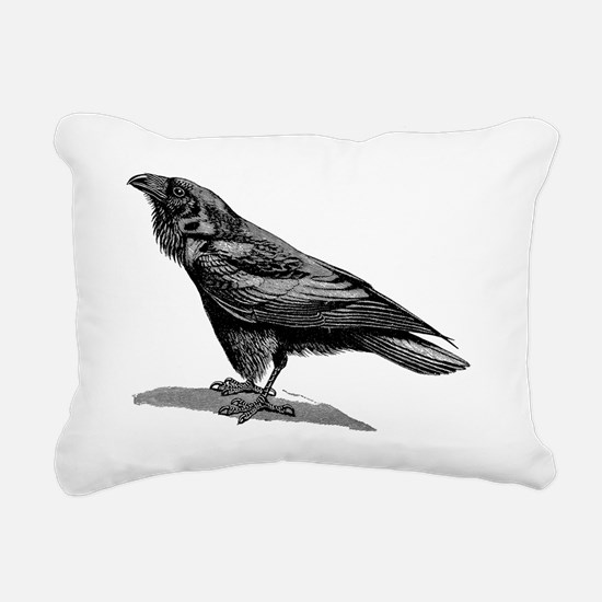 Cute Black crow Rectangular Canvas Pillow