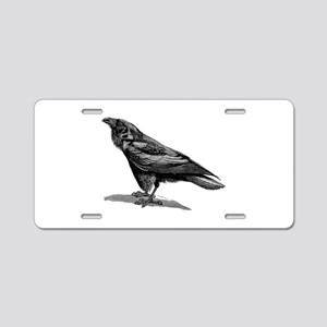 Vintage Raven Crow Black Bi Aluminum License Plate
