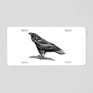 Vintage Raven Crow Black Bi Aluminum License Plate