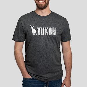 Deer: Yukon, Canada Mens Tri-blend T-Shirt