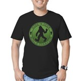 Bigfoot hide and seek champion Fitted Dark T-Shirts