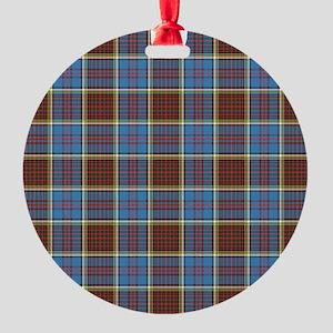 Anderson Tartan Round Ornament