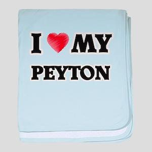 I love my Peyton baby blanket