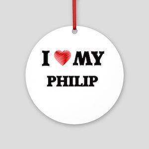 I love my Philip Round Ornament