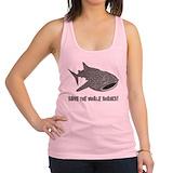 Scuba diving whale shark Womens Racerback Tanktop