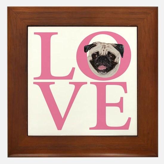 Love Pug - Framed Tile