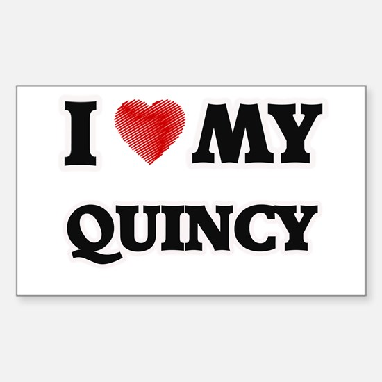 I love my Quincy Decal