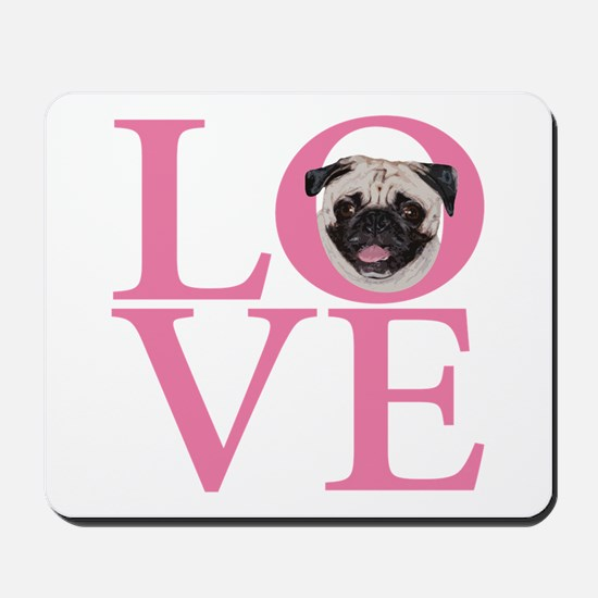 Love Pug - Mousepad