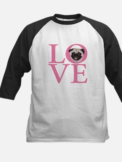 Love Pug - Kids Baseball Jersey