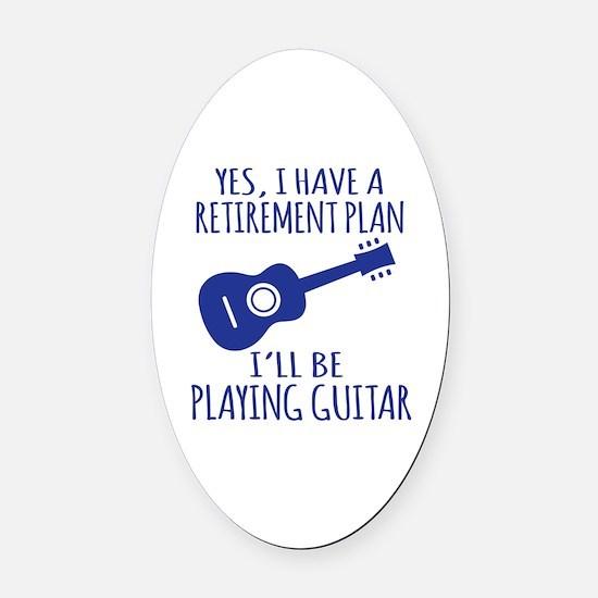 Cool Guitar Oval Car Magnet