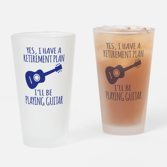 Cute Funny retirement Drinking Glass