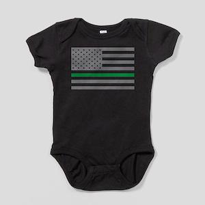 Thin Green Line Baby Bodysuit