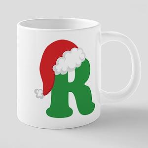 Christmas Letter R Alphabet Mugs