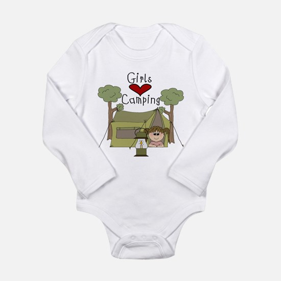 Girls Love Camping Body Suit
