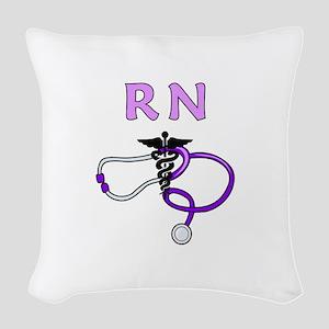 RN Nurse Medical Woven Throw Pillow